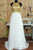 Simple A-line Round Neck Sweep Train Open Back White Prom Dress with Sequins LPD43 | Cathyprom