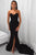 Mermaid Sweetheart Sweep Train Black Prom Party Dress with Split OHC027 | Cathyprom