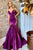 Mermaid Spaghetti Straps Sleeveless Sweep Train Purple Prom Dress OHC040 | Cathyprom