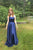Gorgeous Spaghetti Strap Sweep Train Sleeveless Split Satin Long Prom Dress OHC175 | Cathyprom