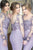 Mermaid Round Neck Long Sleeves Bridesmaid Dress with Appliques OHS034 | Cathyprom