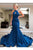 Sexy Prom Dress Halter Mermaid Long Satin Open Back Prom Dresses Evening Dresses OHC594