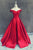 Stunning Off the Shoulder Sweep Train Red A-line Prom Dress with Bowknot LPD53 | Cathyprom