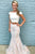 Two Piece Off-the-Shoulder Ivory Tulle Prom Dress with Appliques OHC104 | Cathyprom