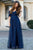 A Line Off The Shoulder Floor Length Half Sleeve Tulle Romantic Bridesmaid Dresses with Ruffles OHS130 | Cathyprom