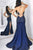 Mermaid Sweetheart Sweep Train Royal Blue Prom Dress with Appliques OHC074 | Cathyprom