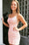 Modern Sheath Pink/Yellow Short Prom/ Homecoming Dresses with Appliques OHM010 | Cathyprom
