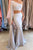 Special Two Piece One Shoulder Long Sleeves Floor Length Grey Mermaid Prom Dress LPD48 | Cathyprom