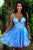 A Line Spaghetti Straps Criss-Cross Homecoming Dress With Appliques OHM031 | Cathyprom
