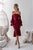 Mermaid Off-the-Shoulder Long Bell Sleeves Burgundy Lace Prom Dress PD6