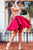 Stylish A Line Deep V Neck Red Short Homecoming Dresses with Beading OHM078 | Cathyprom