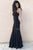 Mermaid Black Strapless Sleeveless Floor-length Prom Dress P52