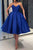 Sweetheart  Sleeveless Satin Prom Dresses Tea Length Party Dress OHM082 | Cathyprom