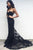 Classic Sweetheart Sweep Train Black Mermaid Lace Prom Dress LPD60 | Cathyprom