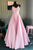 Elegant Pleated A-Line Pink Customized Floor-length Long Prom Dress LPD17