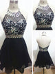 Homecoming Dress Little Black Dress Short Prom Dress Party Dress OHM167