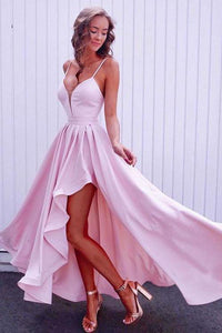 High Low Spaghetti Straps Long Cheap Sexy Simple Prom Dress/Evening Dress Bridesmaid Dress OHS103 | Cathyprom