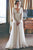 A-Line V-Neck Long Sleeves Sweep Train Chiffon Beach Wedding Dress OHD030 | Cathyprom