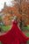 Simple Charming A Line V Neck Sleeveless Backless Red Long Chiffon Prom Dresses Evening Dress OHC321 | Cathyprom