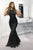 Mermaid Crew Floor-Length Black Cut Out Sequined Prom Evening Dress OHC005 | Cathyprom