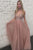 Sparkly V Neck Backless Sleeveless Tulle Beaded Prom Dress OHC147 | Cathyprom