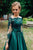 Gorgeous Dark Green Long Sleeves Lace Prom Dress Green Evening Dress Formal Dress PD17