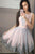 Sleeveless Satin Short Homecoming Dresses with Lace Embroidery OHM083 | Cathyprom