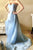 A-line  Blue Sweetheart Beading High Low Sleeveless Prom Dress P51