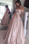 A-line Off the Shoulder Floor Length Pearl Pink Prom Dress with Beading Pleats P96 | Cathyprom