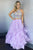 Two Piece Jewel Floor-Length Lavender Tired Prom Dress with Appliques CAD59 | Cathyprom