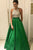 A-Line Halter Backless Green Satin Prom Dress with Beading Pockets OHC046 | Cathyprom
