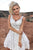 White Short Homecoming Dresses V Neck Appliques Cocktail Dresses OHM080 | Cathyprom