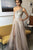 A-Line One-Shoulder Floor-Length Champagne Prom Dress with Beading Split LPD79 | Cathyprom