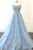 Charming A Line Spaghetti Straps Long Prom Dresses with Appliques OHC159 | Cathyprom