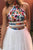 Two Piece Homecoming Dresses Beautiful Lace Embroidery Short Prom Dress Party Dress OHM168