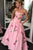 A-Line Sweetheart Pink Long Prom Dress With Embroidery Pockets LPD78 | Cathyprom