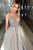 A-Line V-Neck Sweep Train Sleeveless Prom Dress Beading Pleats OHC143 | Cathyprom