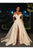 Ivory Prom Dress Sexy Off-Shoulder Satin Satin Side Slit A-Line Prom Dresses Evening Dresses OHC592