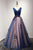 Beautiful Ball Gown V-neck Floor-length Sleeveless Appliques Bowknot Long Tulle Prom Dress/Evening Dress OHC230 | Cathyprom