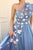Cheap A Line One Shoulder Sleeveless Hand-Made Flower Long Tulle Prom Dress OHC236 | Cathyprom