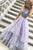 A-line Jewel Floor Length Tiered Lavender Prom Dress with Beading P82 | Cathyprom