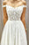 Beautiful A Line Off the Shoulder Sleeveless White Tulle Wedding Dresses with Appliques OHD122 | Cathyprom
