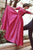 A-line Off the Shoulder Long Sleeves Sweep Train Fuchsia Prom Dress with Appliques D14