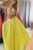 A-line Daffodil Halter Beading Sleeveless Sweep Train Prom Dress P60