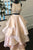 Two Piece A-line Jewel Floor Length Tiered Pearl Pink Prom Dress with Beading LPD28 | Cathyprom