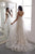 Gorgeous A Line V Neck Sweep Train Sleeveless White Long Wedding Dresses OHD111 | Cathyprom