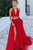 Two Piece High Neck Floor Length Sleeveless Beading Long Tulle Prom Dress Evening Dress OHC130 | Cathyprom