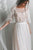 Elegant Simple A-line Half Sleeve Sweep Train Long Tulle Bridal Gown Wedding Dresses OHD155 | Cathyprom