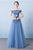 Beautiful A-line Off-the-shoulder Floor Length Sleeveless Long Tulle  Prom Dress/Evening Dress OHC135 | Cathyprom