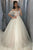 Ball Gown Off the Shoulder Sleeveless White Tulle Wedding Dresses with Appliques OHD110 | Cathyprom
